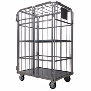 Picture of Heavy Duty Cage Trolley with doors and shelf
